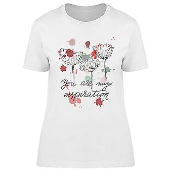 Rose Sketch You My Inspiration Tee Women's -Image by Shutterstock