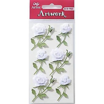 Białe róże Craft przystrojenie przez Artoz