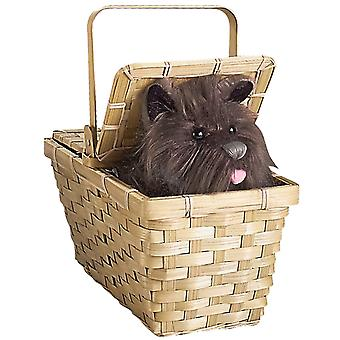 Dorothy The Wizard of Oz Women Costume Deluxe Toto In A Basket Bag