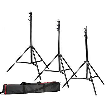 BRESSER 3x BR-TP280 PRO-1 Stativ (280 cm) + Tasche