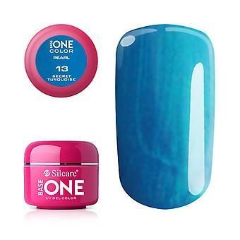 Base one-Pearl-Secret turquoise 5 g UV-gel