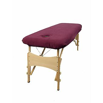 Aztex Massage Couch Cover With Face Hole - Aubergine