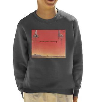 A.P.O.H Salvador Dali Fear Of Perfection Quote Kid's Sweatshirt