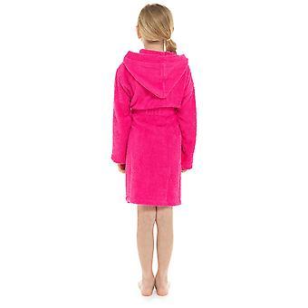 Girls Hooded Design Soft 100% Cotton Dressing Gown Bathrobe