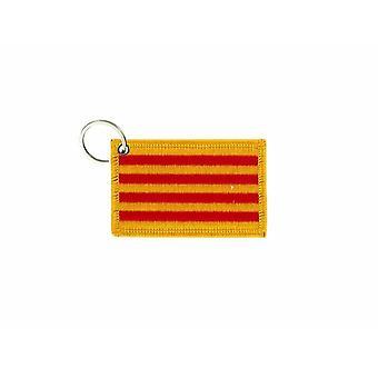 Porte Cle Cles Clef Brode Patch Ecusson Badge Drapeau Caalogne Espagne Catalan