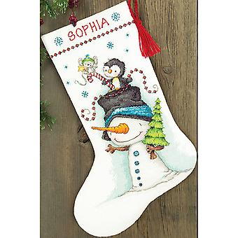 Jolly Trio Stocking Counted Cross Stitch Kit-16