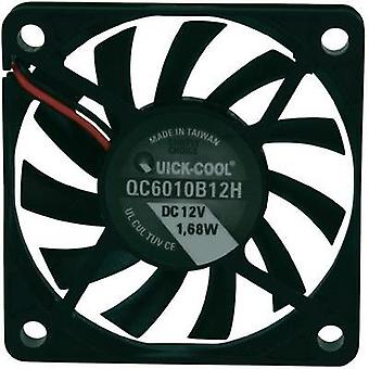 Axial fan 12 Vdc 25.74 m³/h (L x W x H) 60 x 60 x 10 mm QuickCool QC6010B12H
