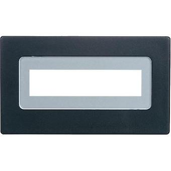Face frame Black Compatible with: LCD 16 x 2 (W x H x D) 91 x 53 x 20 mm PVC H-Tronic