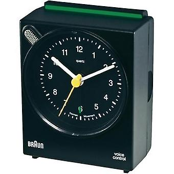 Braun - Black Quartz Alarm Clock Voice Controled
