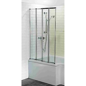 Savisto 4-Fold Bath Screen - 4mm Thick