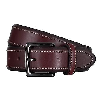 SAKLANI & FRIESE belts men's belts leather belt Bordeaux 5029