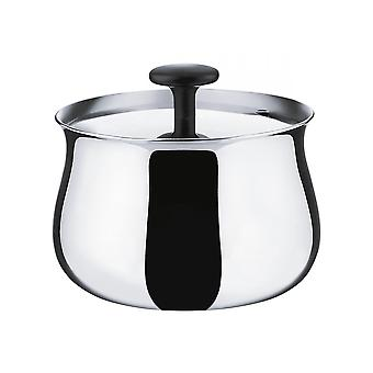 Alessi Cha sugar bowl stainless steel shiny polished - NF03