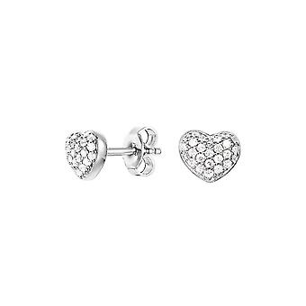ESPRIT women's earrings cubic zirconia heart Petite ESER92693A000