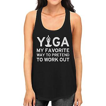 Yoga Pretend To Work Out Tank Top Cute Yoga Work Out Tank Top