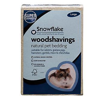 Snefnug Woodshavings - stor (pakke med 4)