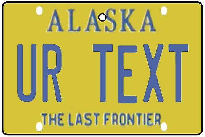 Personalised Alaska Numberplate Car Air Freshener