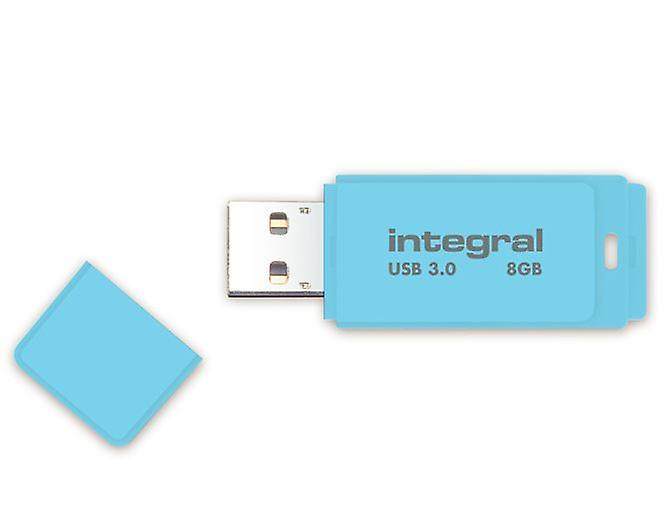 Integral 8GB Blue Sky Pastel USB 3.0 Flash Drive. INFD8GBPASBLS3.0