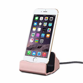 Cradle sync charger dock charging stand for Apple iPhone 5 S 5 C SE 6 7 7 S 6 S plus rose-gold