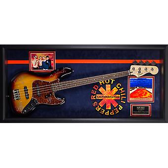 Red Hot Chili Peppers Signed Guitar Californication in Custom Framed Case
