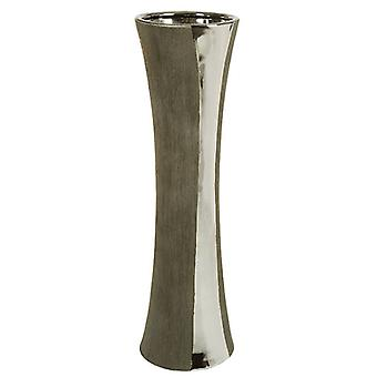Wellindal Jarrón Ceramica plata/negro (Home , Decoration , Vases)