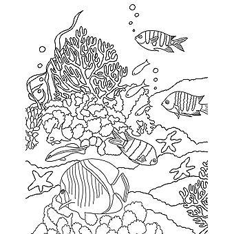 Undervands - farvelægning side plakat Print af Aimee Stewart