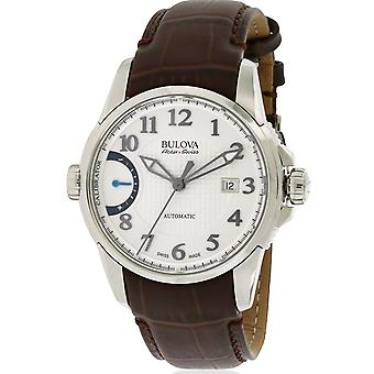 Bulova AccuSwiss Calibrator Leather Automatic Mens Watch 63B171