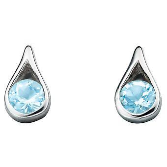 925 Silver Blue Topaz Earring