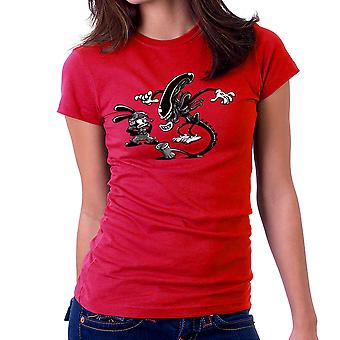 Oswald the Lucky Rabbit Vs Alien Women's T-Shirt