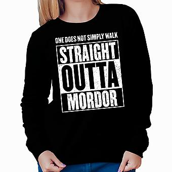 Straight Outta Mordor Lord Of The Rings Women's Sweatshirt