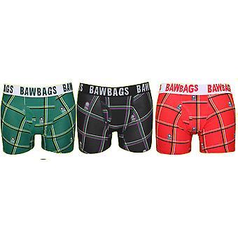 BawBags 3 pack boksere - Tartan