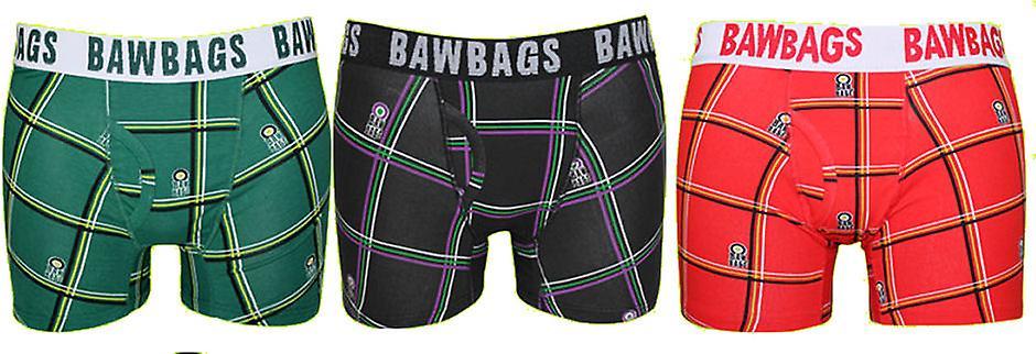 BawBags 3 pack Boxers - Tartan