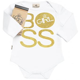 Spoilt Rotten BOSS Girl Organic Babygrow In Gift Milk Carton