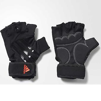 ADIDAS 3 stripe performance weight training gloves