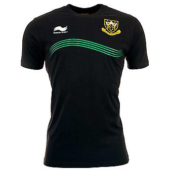 BURRDA northampton saints rugby polyester training t-shirt