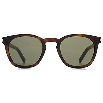 Saint Laurent SL 28 Sonnenbrillen In Havanna Green