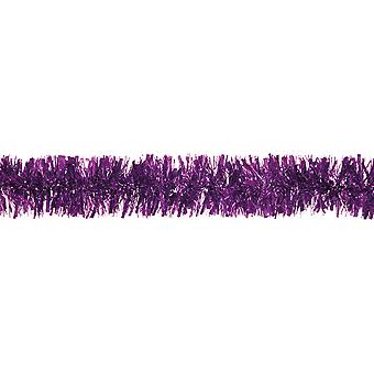 Purple Tinsel Christmas Tree Decoration - 2m | Christmas Tree Decoration