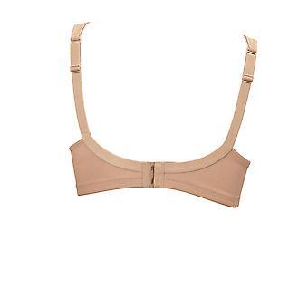 Anita Rosa Faia 5493-722 Women's Twin Skin Beige Microfiber Non-Padded Non-Wired Plus Size DD+ Support Soft Bra