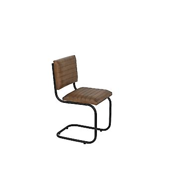 Light & Living Chair 43x47x86 Cm LOCKHART Leather Brown