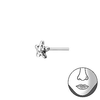 Star Bend To Fit Nose Studs - 925 Sterling Silver Nose Studs - W34790x