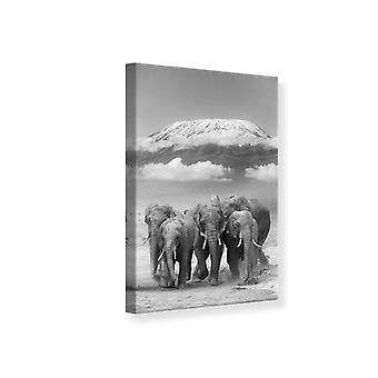 Leinwand drucken Herde Elefanten