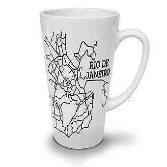 Rio De Janeiro Fashion NEW White Tea Coffee Ceramic Latte Mug 17 oz | Wellcoda