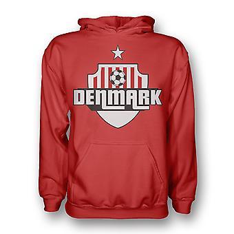 Danmark landet Logo Hoody (rød)