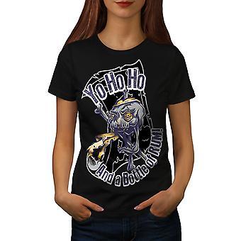 Crazy verrückt Pirate Skull Frauen BlackT-Shirt | Wellcoda