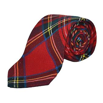 Traditional Red Tartan Check Tie, Necktie, Scotland, Highland, Scottish Look, Stewart Tartan
