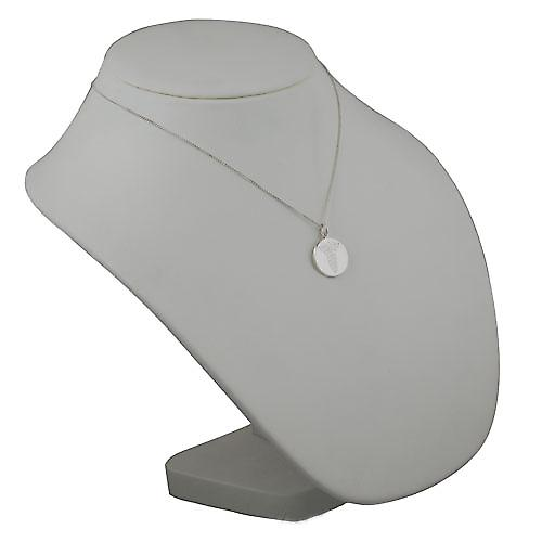 Silver 19mm round plain Medical Alarm Disc with a Curb chain