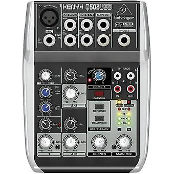 Mixing console Behringer XENYX Q502USB No. of channels:3 USB por