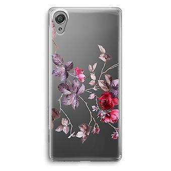 Sony Xperia XA1 transparente caso - flores bonitas