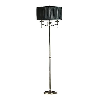 Interiors 1900 63624 Stanford 2 Light Floor Lamp In Polished Nickel Fi