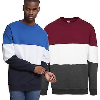 Urban classics - oversized 3-tone summer sweater