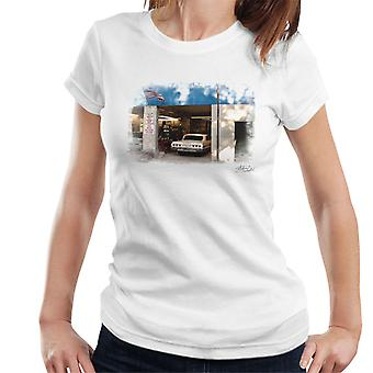 Chevrolet Impala At The Auto Shop White Women's T-Shirt